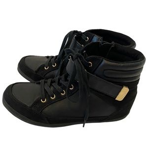 CALL IT SPRING Black Ankle Lace Up Boot 7.5